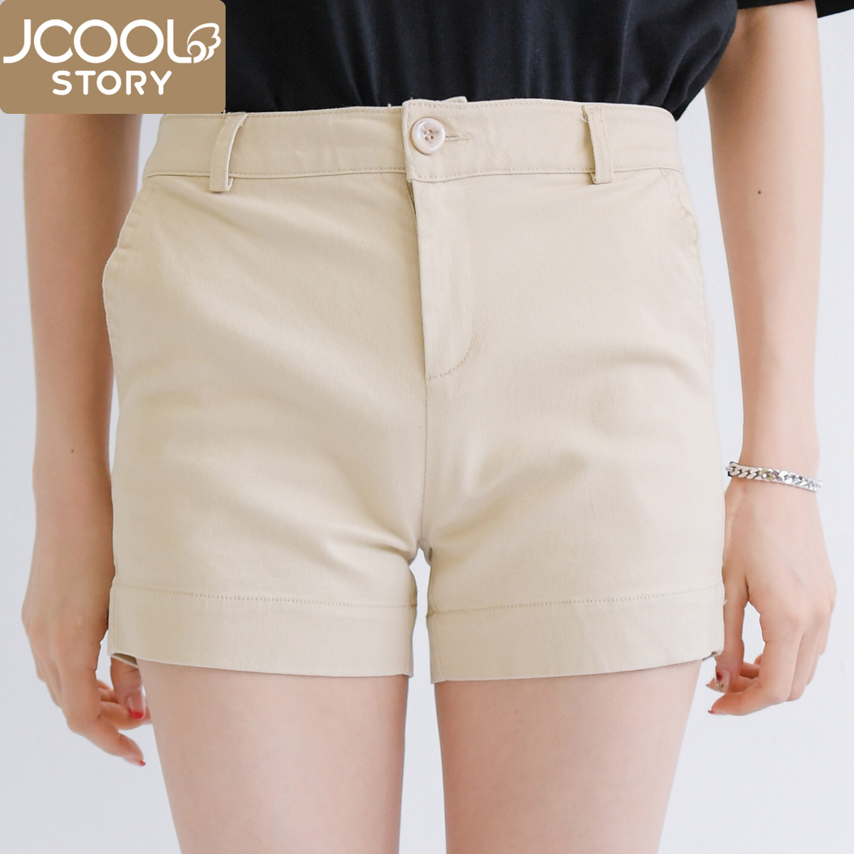 Korea 2016 summer solid color casual korean version of the hundred towers cotton pants casual pants shorts shorts female loose summer tide