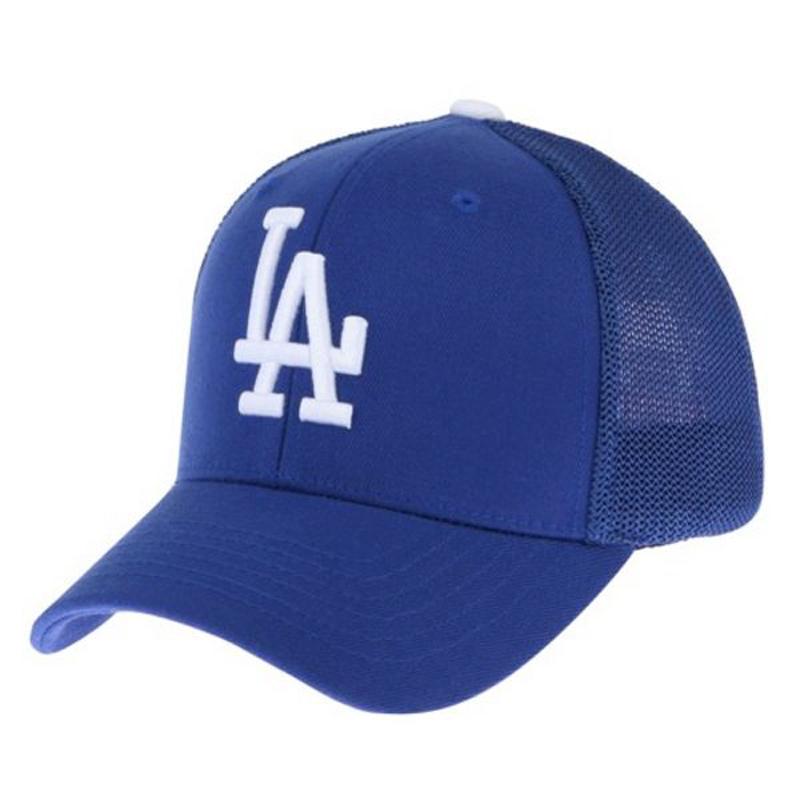da478786195556 Get Quotations · Korea-authentic mlb dodgers baseball cap, la blue and  white half mesh cap baseball