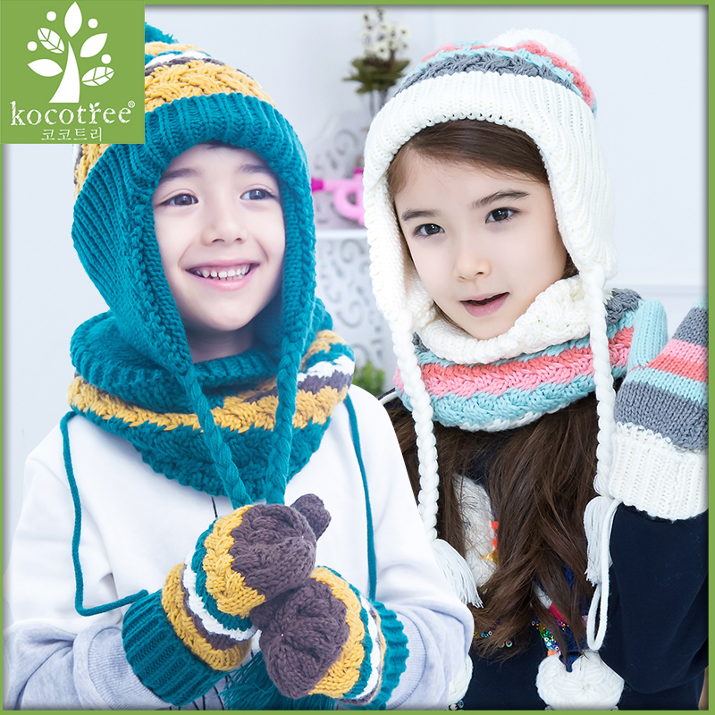 79fd08a6ac5 Get Quotations · Korea kk tree fall and winter baby hat baby hat scarf suit  hand sets of three