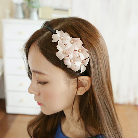 Korea korean headdress hair accessories hairpin fine cloth hair bands bangs head flower flower headband broadside hairpin head buckle
