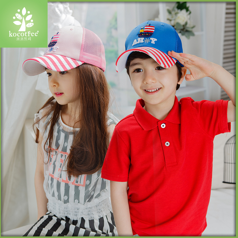 fdef767dbbf Get Quotations · Korea spring and summer baby sun hat mesh hat girls and boys  baseball cap mesh cap