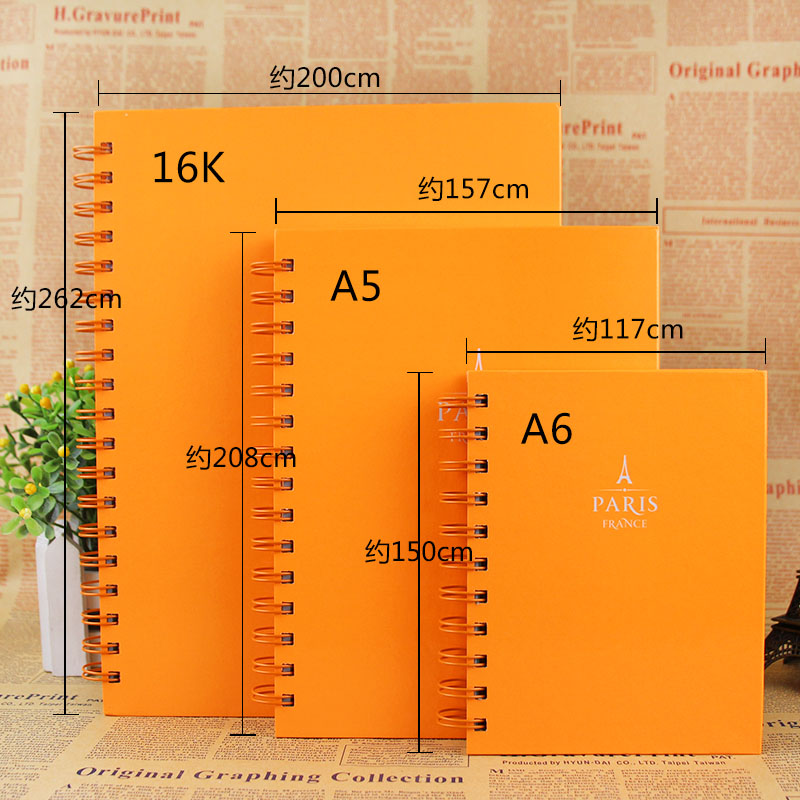 Korea stationery student it is true rollover coil portable notebook notepad creative book page 120 of the subjects