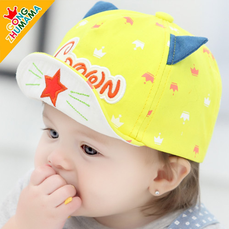 Korean baby hat baby cap spring and autumn 3-6-12 months baby hats boys and girls baseball cap hat autumn