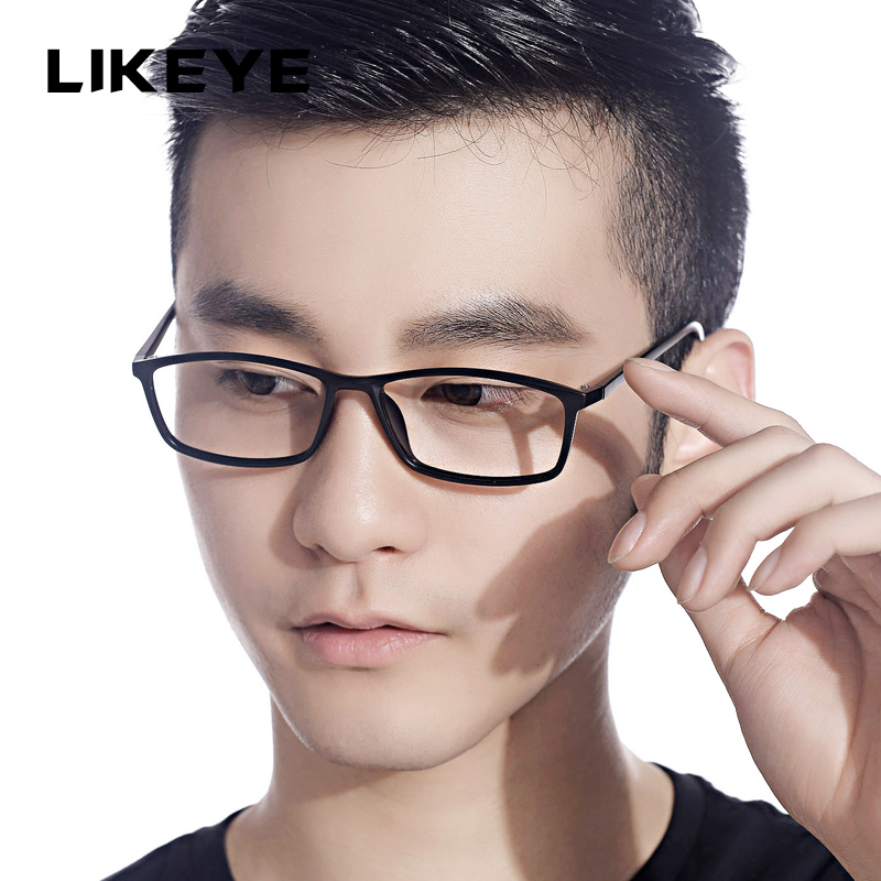 Korean fashion LIKEYE606 thin male models tr90 lightweight eyeglass frame glasses frame myopia frame glasses frame full frame