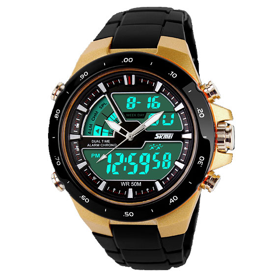 Korean fashion men's watch dual display multifunction sports watch waterproof led electronic watches watches for men and women students