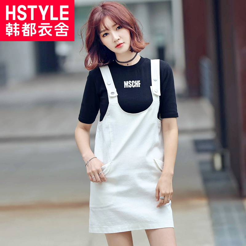 Korean homes have clothes women's 2016 korean version of the autumn cotton casual dress strap dress skirt sleeveless dress by age