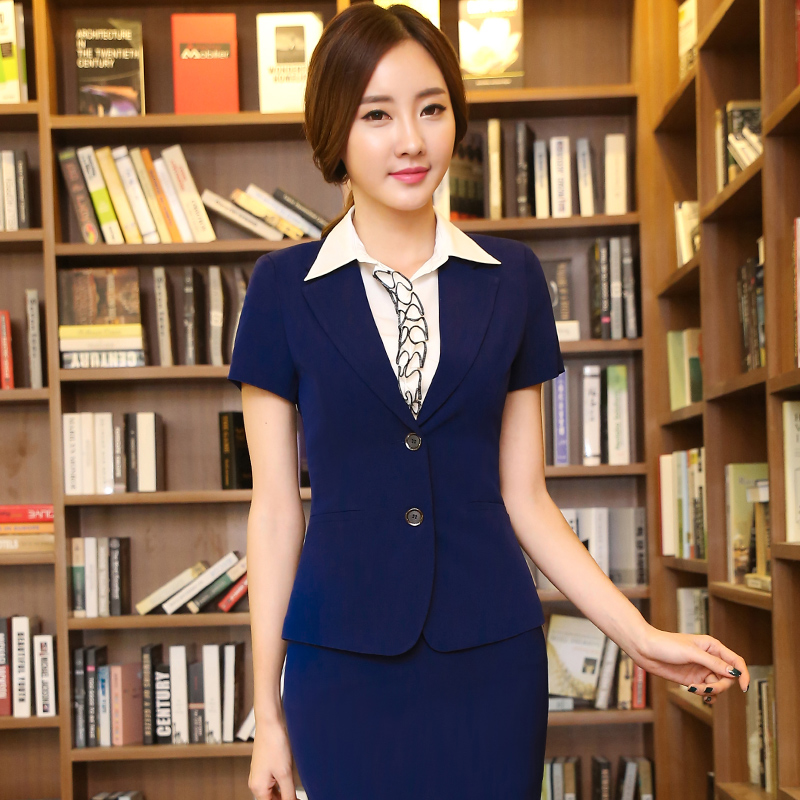 Korean version of ol ladies wear skirt suits interview suits career suits are decorated body suit skirt suits overalls