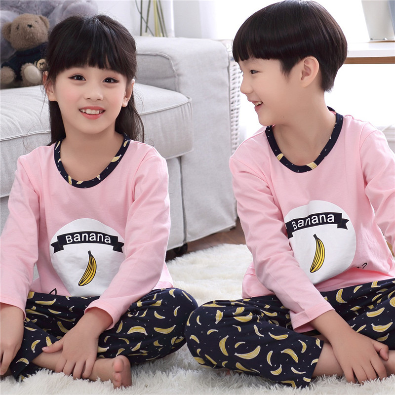 Korean version of spring and autumn kids children's cotton long sleeve pajamas cute cartoon mickey male child girls tracksuit suit