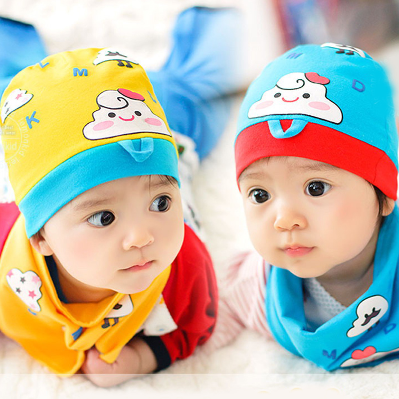 Korean version of spring and autumn male and female baby hat baby hat children set of head cap baby hat in autumn and winter 0709