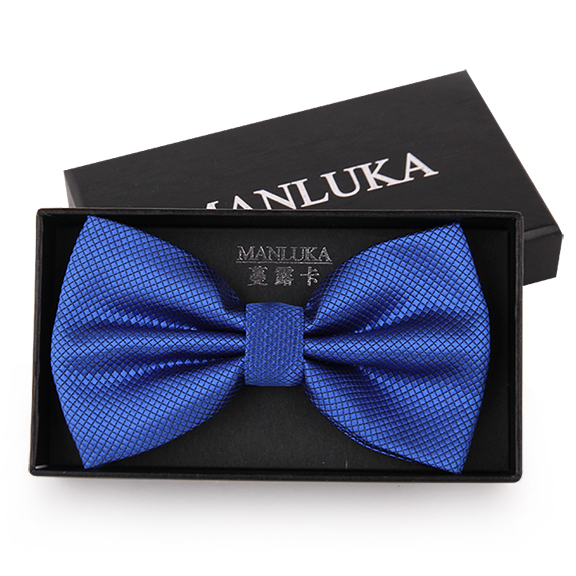 Korean version of the bow tie married korean men's suits groom wedding bow tie england sapphire blue