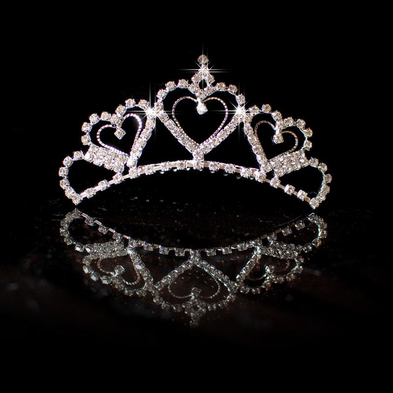 Korean version of the bride wedding accessories plug comb bridal crown tiara wedding dress new mother jewelry rhinestone hair accessories