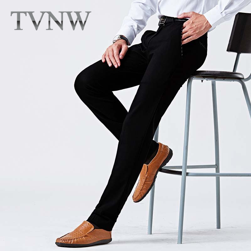 Korean version of the elastic tvnw feet occupation 2016 autumn new men's business suits trousers male pants wild 3770