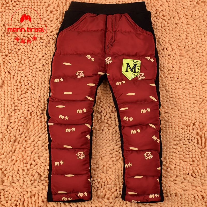 Korean version of the fall and winter children's clothing small male baby warm winter trousers baby boy pants boy pants thick outer wear trousers