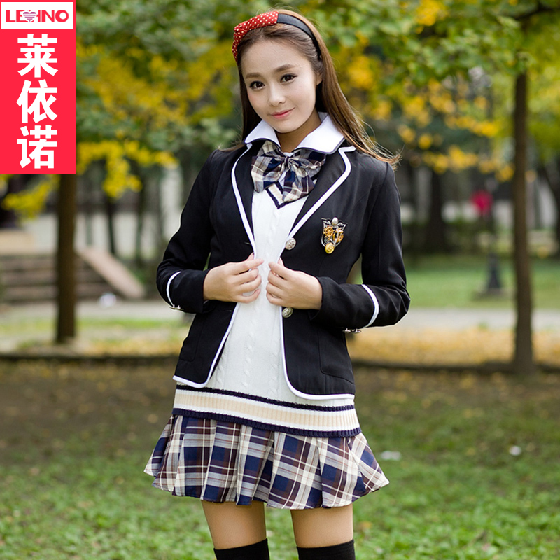 Korean version of the fall and winter school uniforms japanese sailor uniforms england college wind students college students vest vest suit