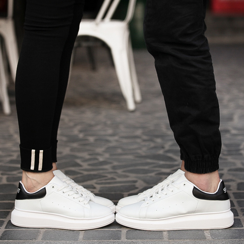 Korean version of the fall sports shoes casual shoes men's shoes white shoes thick crust models fashion lovers shoes breathable shoes