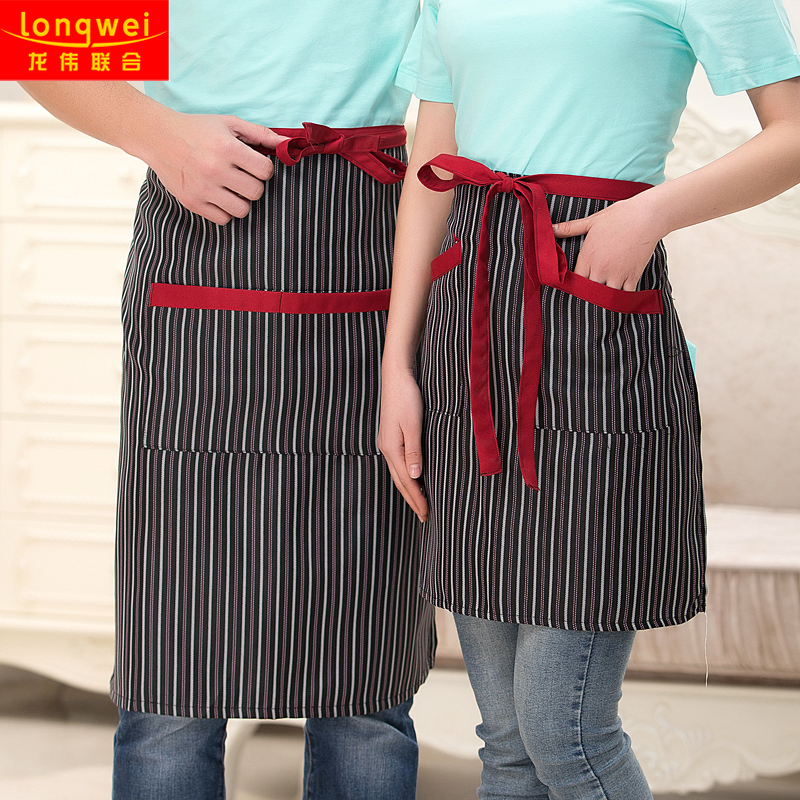 Korean version of the half waiter aprons bust cafe restaurant hotel kitchen chef aprons wild male and female models