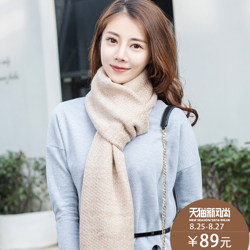 Korean version of the influx of warm wool scarf female autumn and winter wool scarves scarf shawl female winter lovely soft soft wind