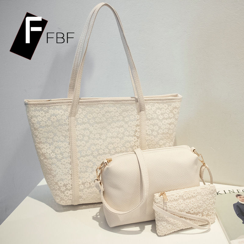 Korean version of the new jelly lace fbf shopping big bag ladies soft large capacity minimalist flower handbag 3801