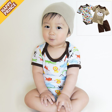 Get Quotations · Korean version of the new male baby cute baby short sleeve suit korean version of spring