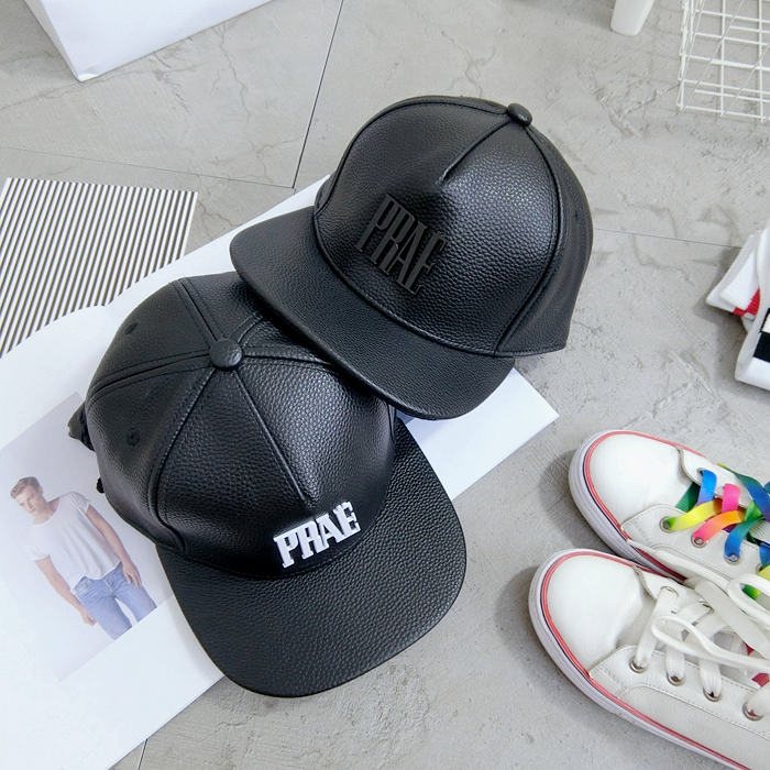 Get Quotations · Korean version of the personalized acrylic dimensional  letters embossed leather ms. male flat brimmed hat 9a583413faba