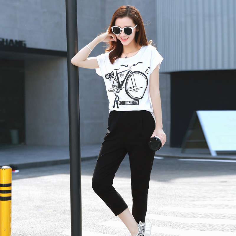 Korean version of the piece 2016 new pants casual sports sports suit casual women's sports suit summer