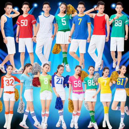Korean version of the students cheerleading apparel cheerleading cheerleading performance clothing aerobics clothing for men and women dance costumes