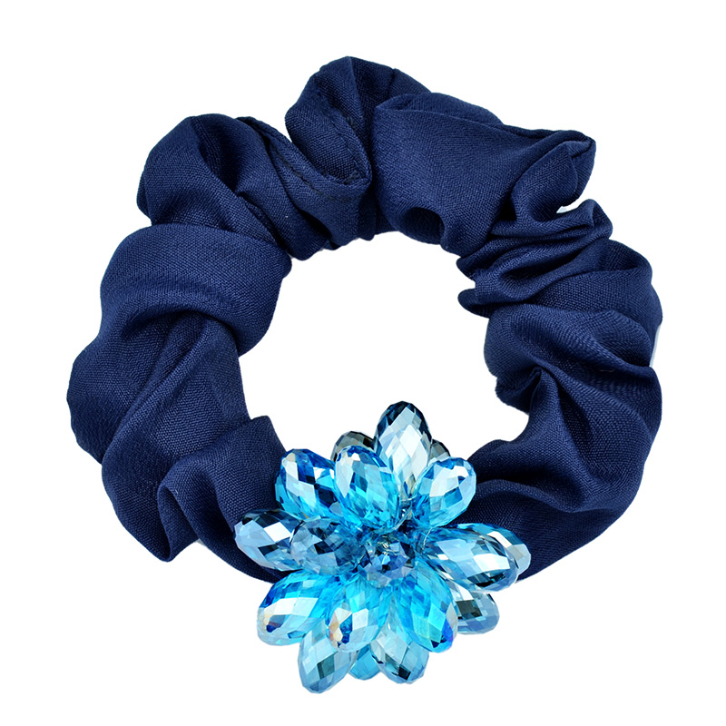 Korean version of zhijiang crystal ponytail hair accessories hair ring hair rope head flower hair tie tousheng female headdress korean dish made of crystal
