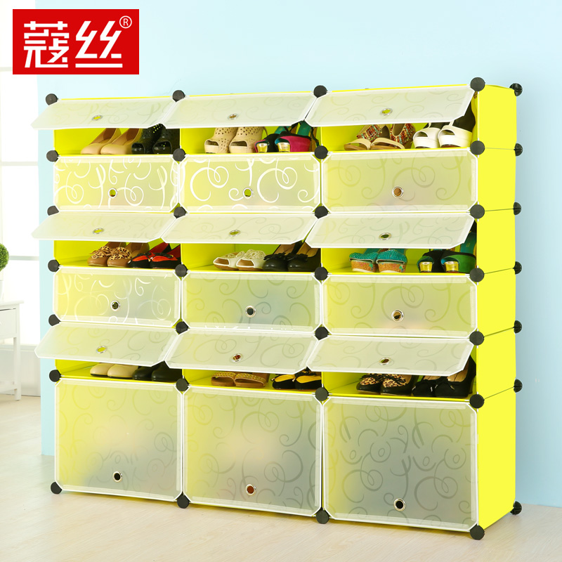 Kou wire stainless steel shoe rack shoe dust specials simple shoe shoe storage rack plastic shoe rack large capacity multilayer