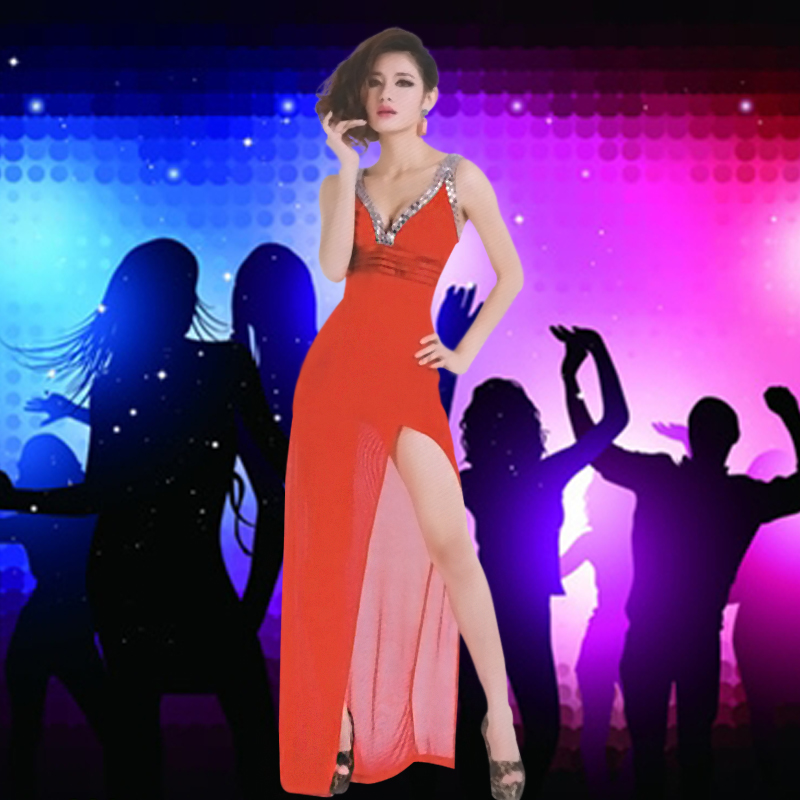Ktv nightclub princess dress sexy dress ds costumes costumes sexy bar girl song hand clothing