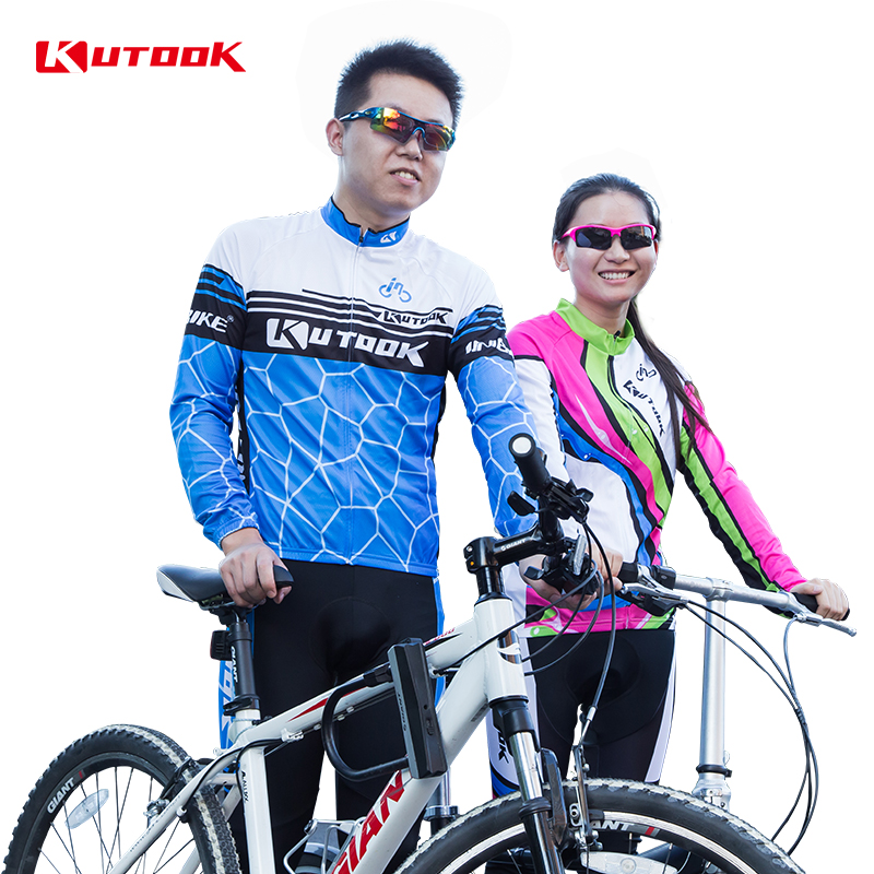 Kutook riding clothes suit male spring sleeved jersey female models sweat breathable mountain bike riding equipment