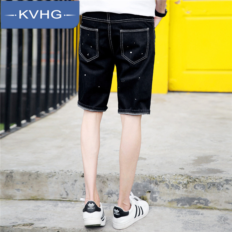 Kvhg fashion cool summer men's small fresh 2016 summer new men washed denim pants five pants 8001