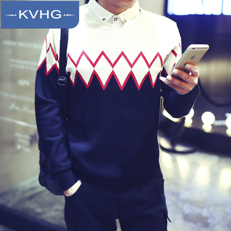 KVHG2016 hitz influx of young japanese men's wild round neck sweater hedging sweater sweater 2957