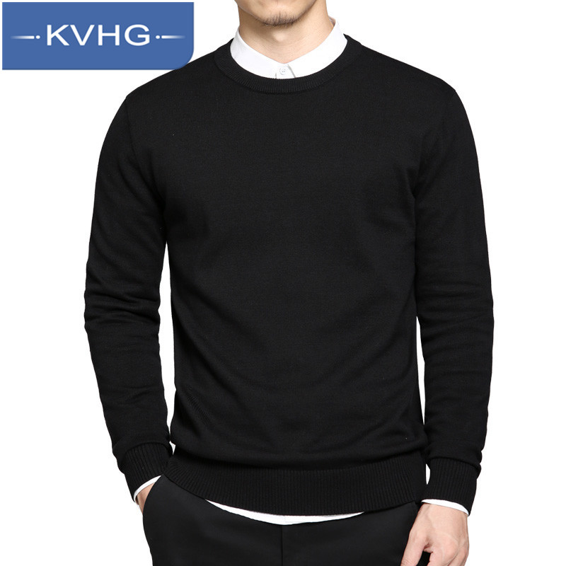 KVHG2016 new men's comfort hedging sweater male korean version of casual round neck long sleeve sweater 0693