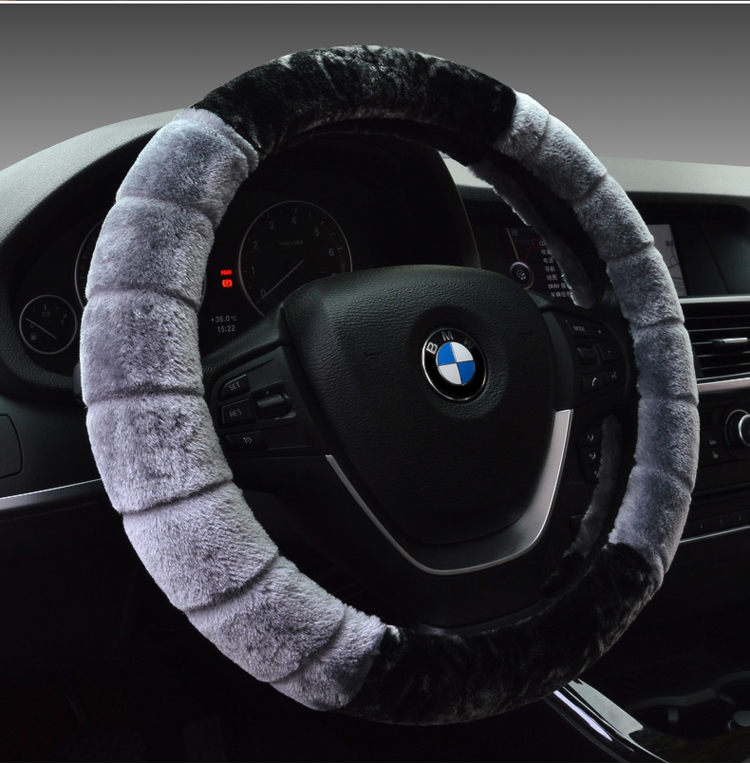 Kx5 kia car steering wheel cover slip unisex warm car to cover winter plush grips