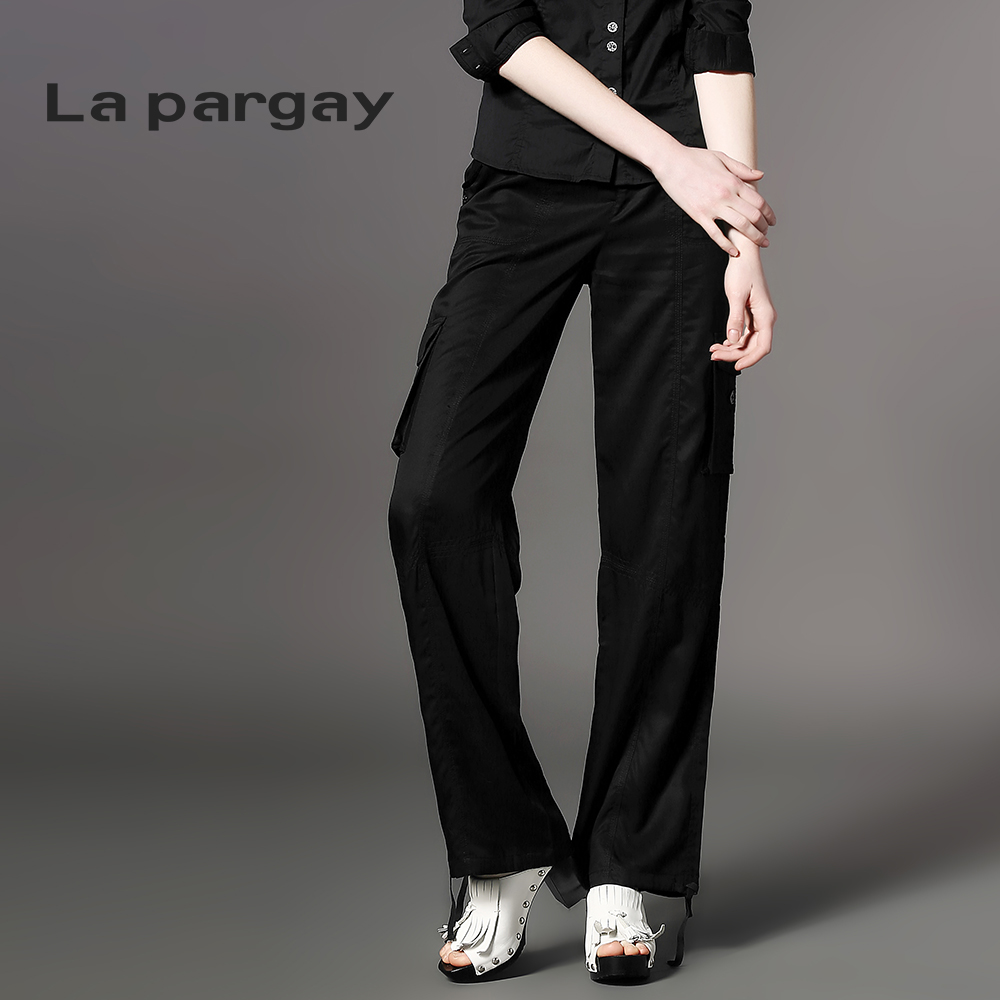 La pargay2016 L362248C drawstring trousers new spring and summer and more pocket decoration
