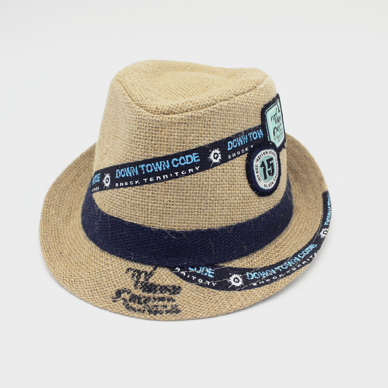 d017a58ea94b54 Get Quotations · Labeling children aged male and female baby straw hat  summer sun hat travel cap sand beach