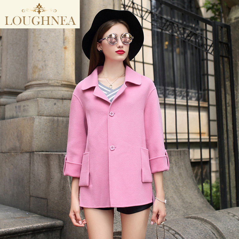 Labor virginia sided woolen coat female 2016 winter new korean version of the sleeve sleeve female korean version of a short section of woolen outer