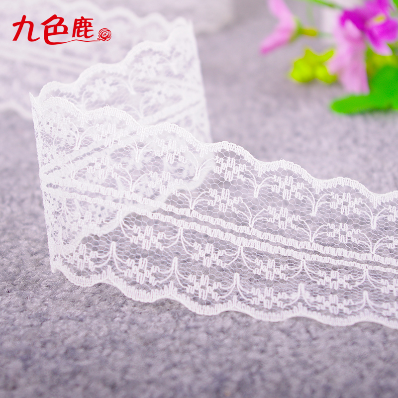 Lace stretch lace lace garment accessories clothes decoration diy handmade jewelry materials tricolor ribbon