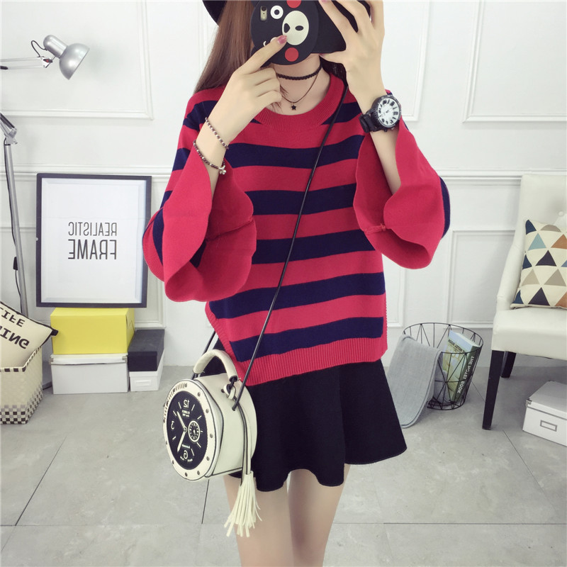 Lady rui/rui lady 2016 new winter sweater gas quality women's fashion was thin striped sweater