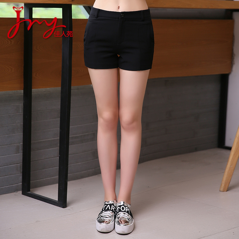 Lady yuan 2016 hitz solid color women korean slim thin wild fashion casual pants shorts