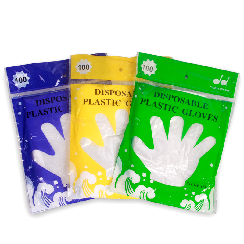 Lai jie disposable gloves pe film gloves health gloves disposable gloves lobster gloves