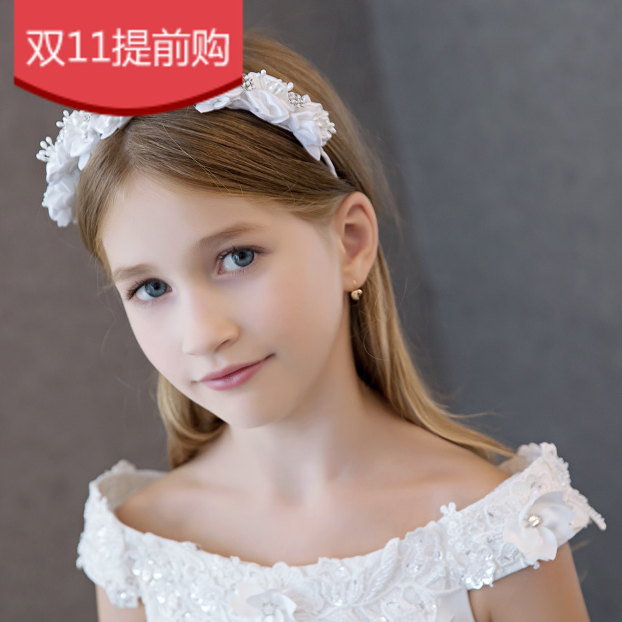 Lala lala took the child children little princess tiara flower girl jewelry accessories flower headband headdress performances dress with jewelry