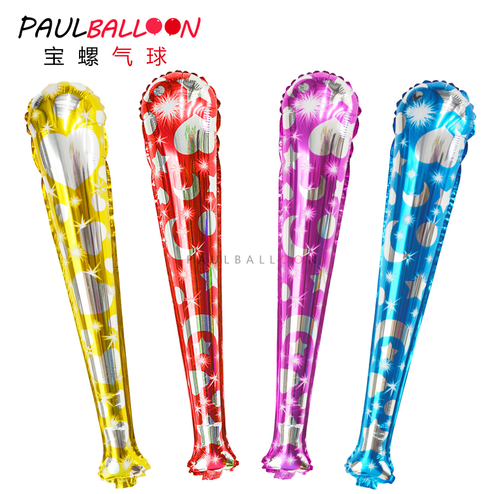 Lala stick with sound pat pat pat stick aluminum balloons party balloons birthday party blow stick inflatable sticks refueling