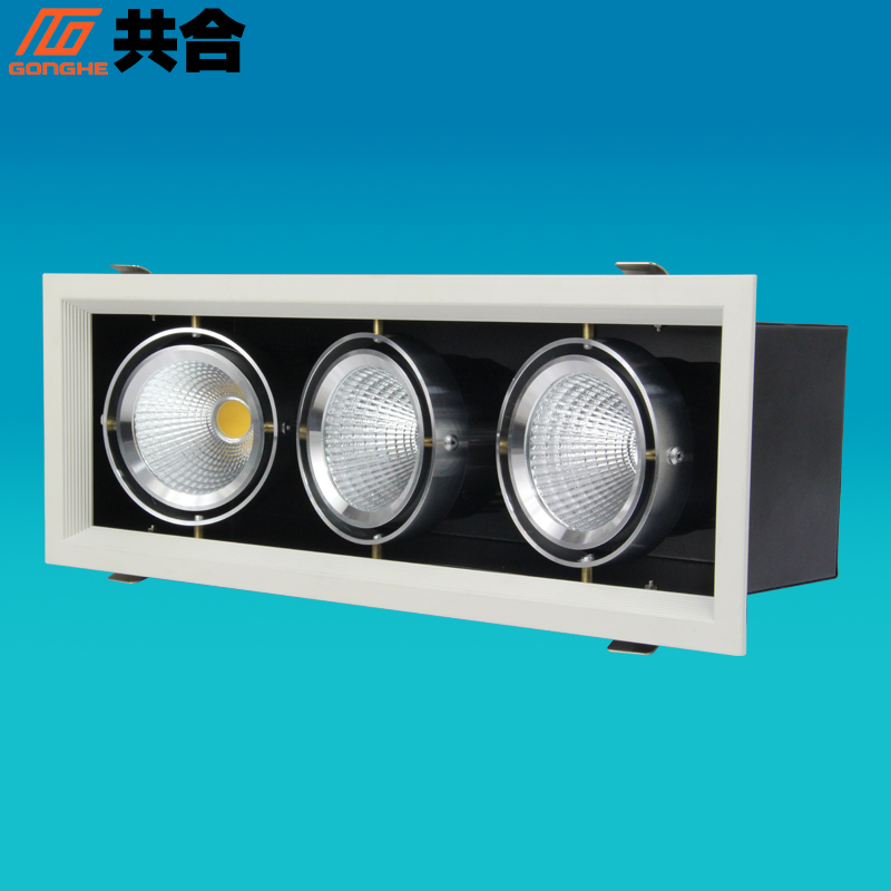 Lamps totaling cob 54W three venture grille lamp grille light super bright high end exhibition office business Lighting