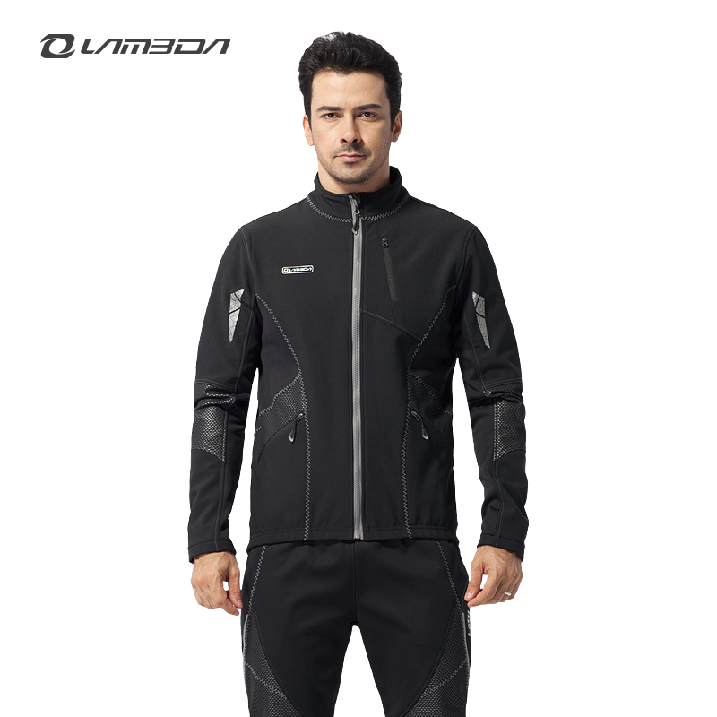 Lan pada riding clothes for men windproof fleece warm autumn and winter riding clothes suit long sleeve pants suit flames
