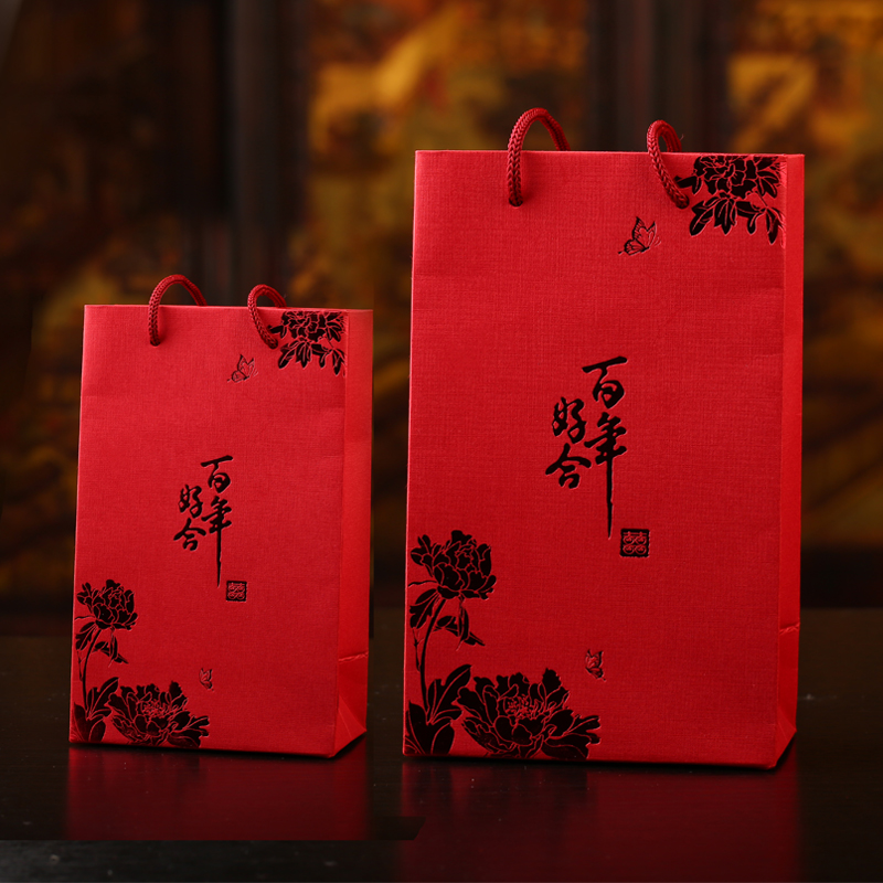 Landen chinese candy box hi commodities tote bag tote bag wedding favor bags creative wedding supplies