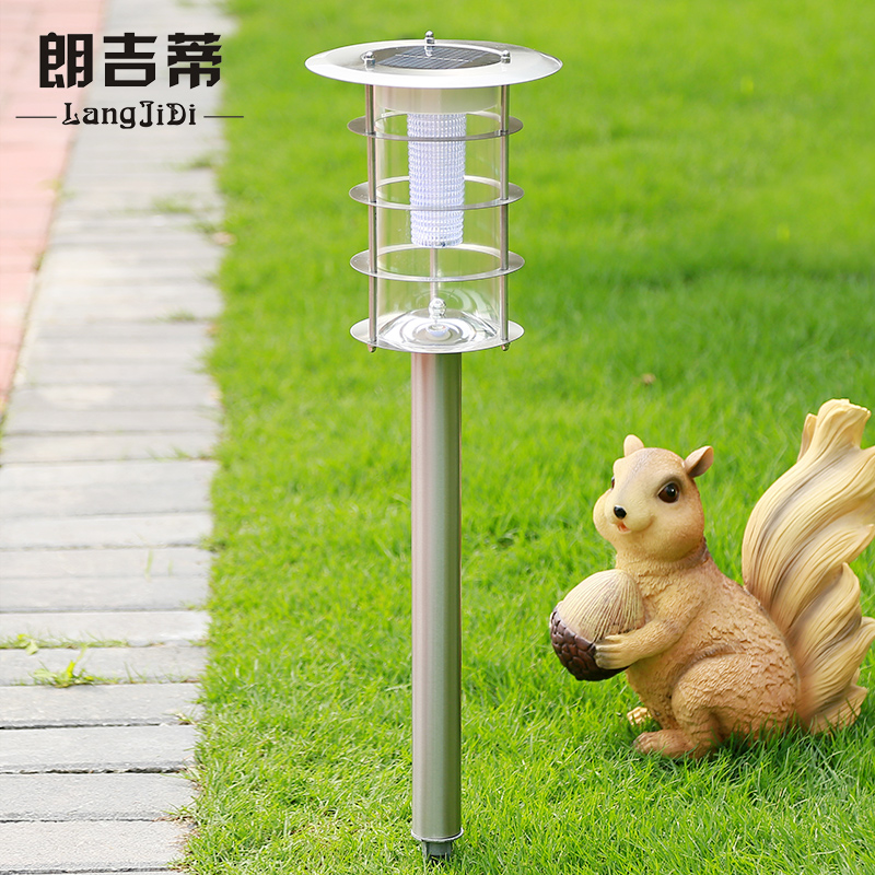 Lang lang kitty super bright led solar lawn lights garden lights outdoor lights stainless steel lights inserted villa street home