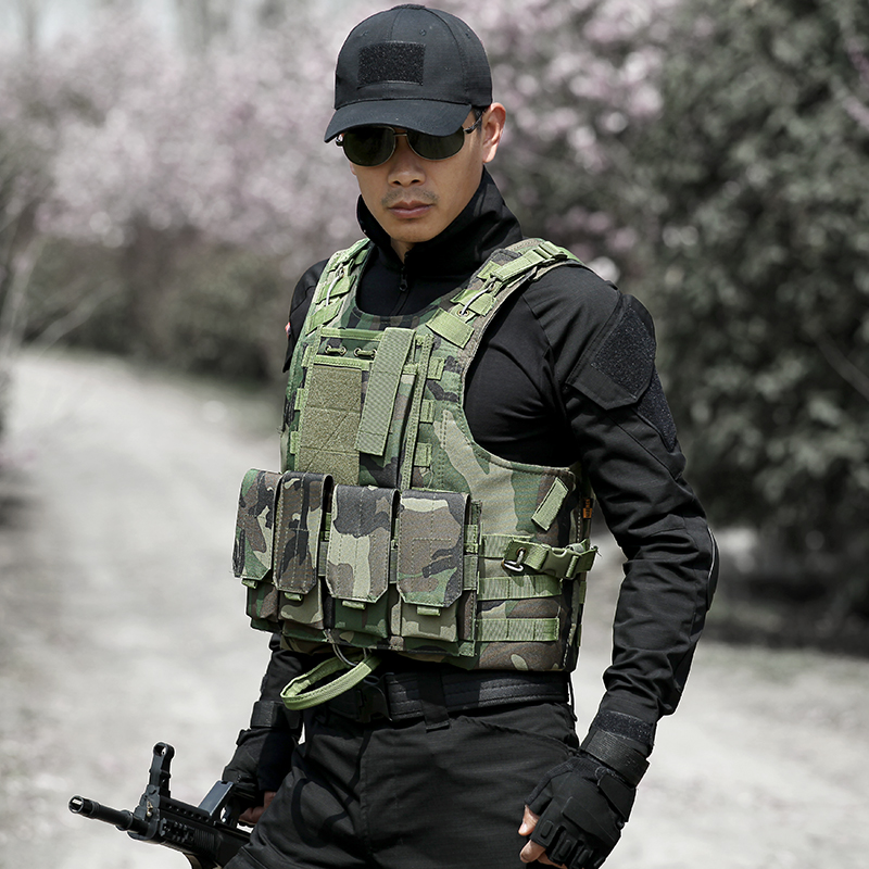 Lang shield men in camouflage jungle camouflage military fans outdoor tactical vest tactical vest stab bulletproof vests