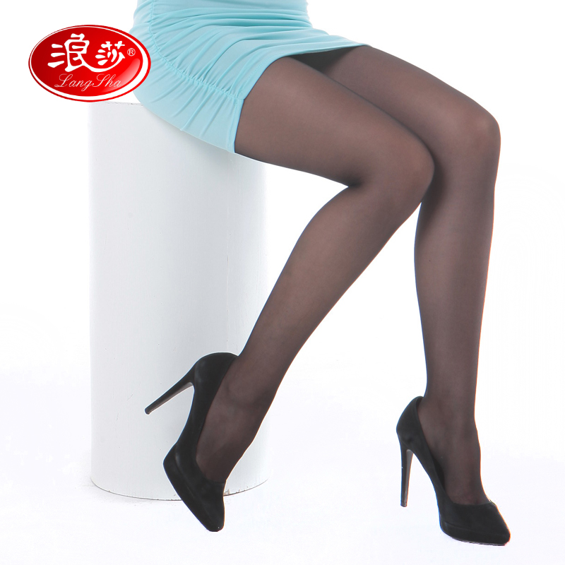 b2c3edd2056d Get Quotations · Langsha cored wire thin stockings rompers anti hook wire  bottoming socks spring and autumn models sexy
