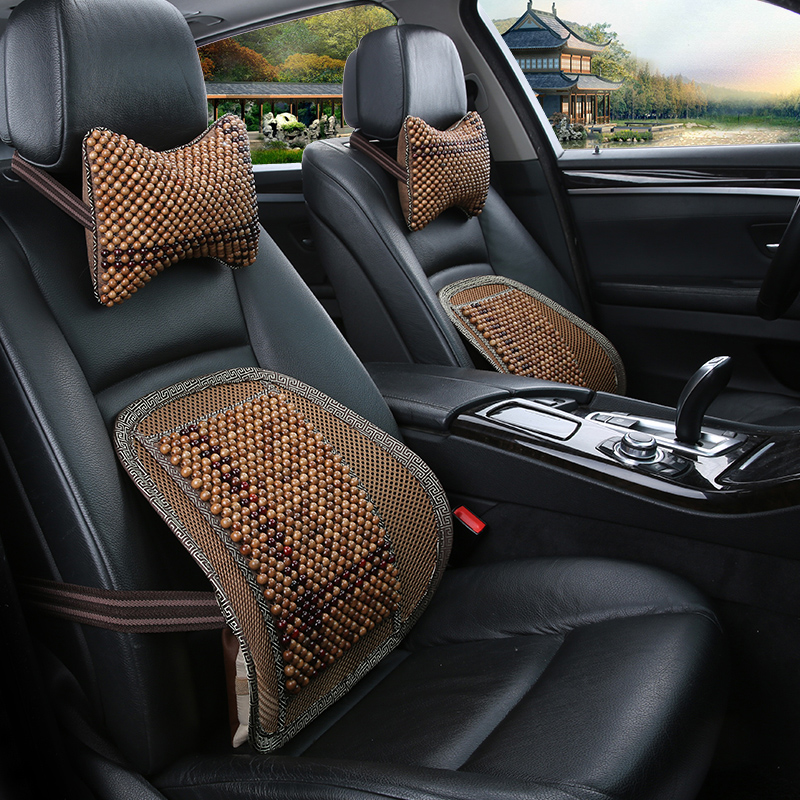 Language connaught automobile headrest pillow lumbar suit summer special wooden beads wooden bead cushion muzhu lumbar support pillow headrest